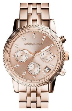 MICHAEL Michael Kors Michael Kors 'The Ritz' Chronograph Bracelet Watch, 36mm available at #Nordstrom