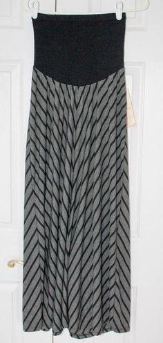 c8ef5e24896ea NWT Motherhood Maternity Gray and Black Jersey Knit Skirt Full Panel Medium  #fashion #clothing