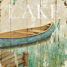 rustic canoe print