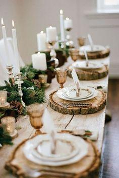 Une table de Noël nature et élégante