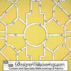 PAL-42095 | Regal Bamboo Lattice Trellis Wallpaper