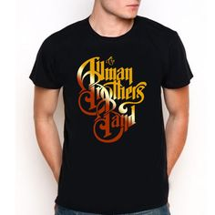 The Allman Brothers Band T-Shirt Rock Blues Legend Logo Black Tee  Size XS-XXL