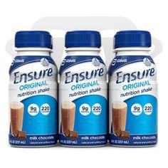 Ensure Milk Chocolate Nutrition Shake - 6 pack (8oz each)