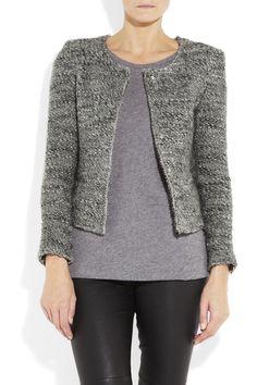 Tweed Cropped Jacket Wool Iro Blend q0zHwv