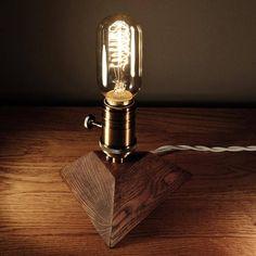 Edison LampWood LampWooden Edison LampTable LampHandmade