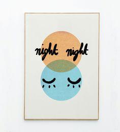 Mathilde Cabanas stationery - Poster Night Night