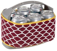 This is perfect for my football tailgate #FSU party!! Six Pack Cooler with Cover-Maroon/Yellow #thepinkchalet $24 #gonoles
