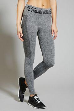 9672188b903cb Active Heathered Leggings - Activewear - Bottoms - 2000150375 - Forever 21  EU English Workout Pants
