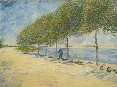 Art of the Day: Van Gogh, Walk Along the Banks of the Seine, Summer 1887. Oil on canvas, 49.0 x 65.5 cm. Van Gogh Museum, Amsterdam.
