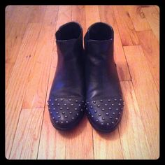 Studded Ankle boots Studded black toe ankle boots 8/10 condition. It's the perfect simple black boot Shoes Ankle Boots & Booties