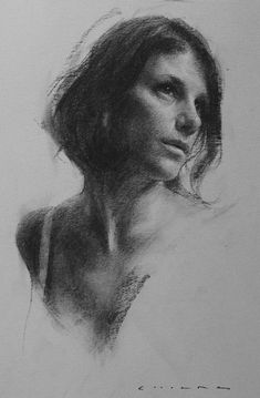Super drawing charcoal portrait fine art 27 Ideas - Everything About Charcoal Drawing and Sculpture Female Face Drawing, Drawing Faces, Life Drawing, Drawing Sketches, Art Drawings, Drawing Tips, Pencil Drawings, Contour Drawings, Hipster Drawings