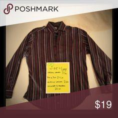 ea39ae23 Thomas Dean Lg Mens Dress Casual Shirt Flip Cuff Thomas Dean L Mens Dress  Casual Shirt