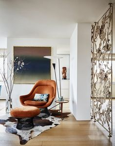 East End Avenue Residence  a perfect city oasis for a pair of art collectors  Living  Architectural Detail  MidCenturyModern by Amy Lau Design