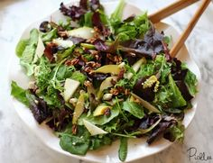 Simple salad for dinner parties, Gorgonzola & Pear Salad!