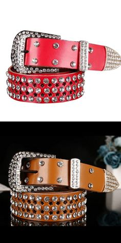 Fashion atlas western cowgirl bling cowgirl belt clear rhinestone crystak new  girls belts  0211   88e0f0db1c7c