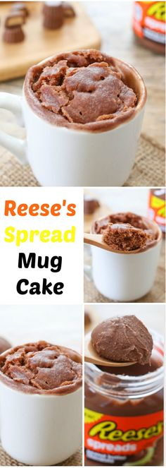 This mug cake tastes like melted peanut butter cups in cake form! #ReesesSpread #contest