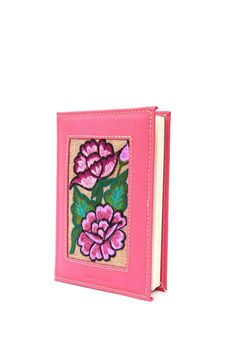 """Unique and lovely lined notebook. Made of vinyl. Its beautiful hand embroidered mexican textiles from the community of """"Naching"""" in Chiapas make this piece one of a kind. María, Rosa and Juana Esthela are some of the artisans who made the colorful flowers on this detailed item.    Dimensions: 18 x 12 x 2 cm   Hand Embroidered Notebook  by Maka Mexico. Home & Gifts - Gifts - Stationery & Office Mexico"""