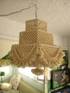 Pom Pom Lamp by justinablakeney, via Flickr