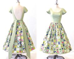 1950s Dress Pat Premo 50s Floral Sundress by daisyandstella, $235.00