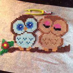 Owls perler beads by Katie Binesh