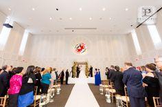 Wedding Ceremony in our elegant ballroom @ Samuel Riggs IV Alumni Center #Maryland #Riggs4Events