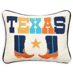 Cool Craft.A marriage of traditional and Mod style, our Needlepoint Pillows are the perfect punctuation for your pillowscape. Each pillow is embroidered by