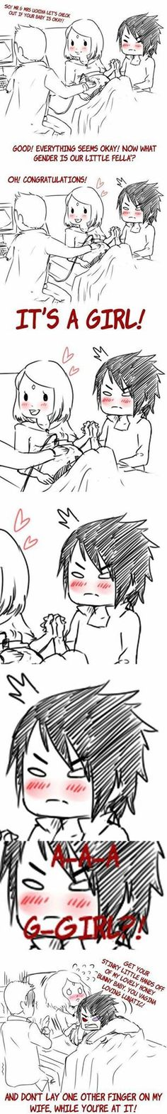 Sasuke gets protective of his girls. <3