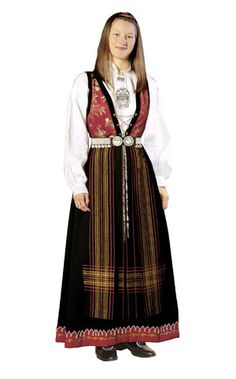 Sognebunad til dame - BunadRosen AS Scandinavian, All Things, Victorian, Traditional, Costumes, Clothes, Dresses, Fashion, Tall Clothing
