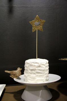 Smash cake with glitter cake topper - #smashcake