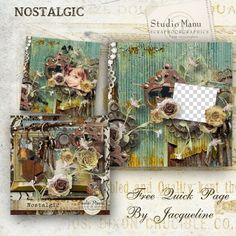 Manu designs has a new kit: Nostalgic -- beautifull autumn kit! QP offered by Jacqueline on Manu's blog --- #freebie #digiscrap #digitalscrapbooking