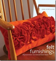 Felt Ruffle Rosette Pillow   (tutorial)