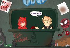 The Little Hero AU, Hawkeye and Daredevil #8
