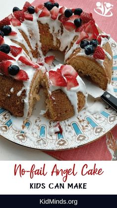 Your new no fail angel cake recipe for when you need a yummy dessert in a hurry. Perfect for newbie chiefs. #kidscancook #kidsactivities #cookingwithkids #angelcake #homemade Angel Cake, Angel Food Cake, Tube Cake Pan, Still Tasty, Cake Day, Your Recipe, Cooking With Kids, Yummy Cakes, A Food