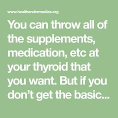 You can throw all of the supplements, medication, etc at your thyroid that you want. But if you don't get the basics right, then you're essentially wasting your time. And this is because you are missing the bigger picture. Below I'm going to cover 5 essential steps that are an integral part of any hypothyroidism[...]