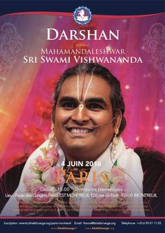 Darshan of Mahamandaleshwara Sri Swami Vishwananada https://www.bhaktimarga.org/events/paris-montreuil-darshan