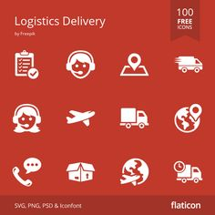 Logistics delivery free icons in vector format for both personal  commercial use. (License: CC BY 3.0)