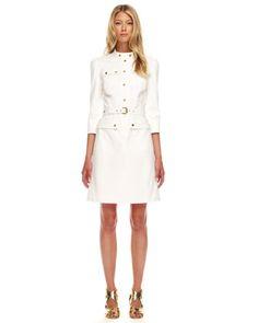 Twill Military Dress by Michael Kors at Bergdorf Goodman. $1495