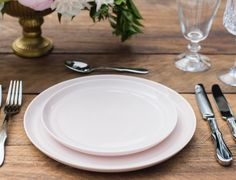 Blush Dinner Ware Collection by Set Maui wedding inspiration PC: Trish Barker Photography