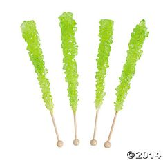 Light Green Rock Candy Pops - Oriental Trading