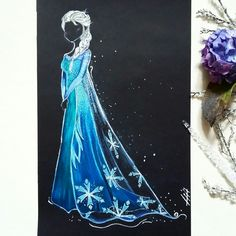 Elsa Version Féerik Art 🌸 ❄ #disney #art #lareinedesneiges #elsa #disneyprincess #disneyworld #disneyart