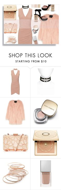 """""""#33"""" by idonthavebrains ❤ liked on Polyvore featuring WearAll, Topshop, Unreal Fur, Dolce&Gabbana, Clarins, Red Camel, Givenchy, Miu Miu and chokerdress"""
