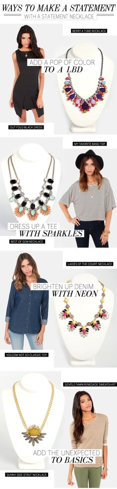 How to wear a statement necklace via lulus.com