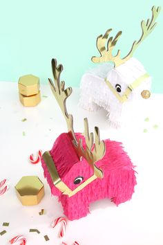Riendeer Pinatas! How could you not want to make one of these?