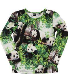 Molo Trendy Panda Longsleeve T-shirt #emilea