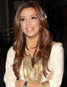 Eva Longoria. Thinking this is next for my hair ;) Love the style and different colours!