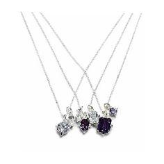 e.m. silver layerd necklace cubic zirconia alexandrite  0102-AN07 #em #necklace #layerednecklace #silver #cubiczirconia #alexandrite