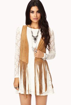 Western Redux Fringe Vest | FOREVER21 Welcome to the wild wild west