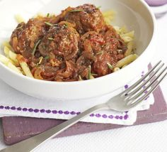 This hearty dish makes a simple and speedy midweek meal but can also be frozen ahead for a last-minute dinner, from BBC Good Food. Healthy Pasta Recipes, Bbc Good Food Recipes, Snack Recipes, Cooking Recipes, Frugal Recipes, Lamb Recipes, Savoury Recipes, Healthy Foods, Yummy Recipes