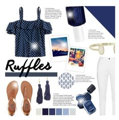 """Ruffled Tops"" by littledesigns ❤ liked on Polyvore featuring J.Crew, Zhenzi, Billabong, Kendra Scott, Kenneth Jay Lane and Essie"