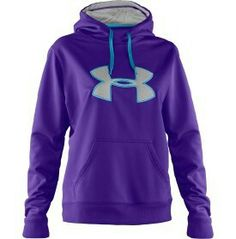 I really love this under armor hoodie ! (: I like the hot pink with blue one too !!